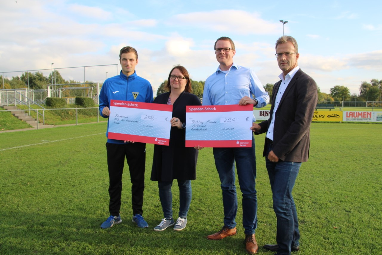 Uitreiking cheques
